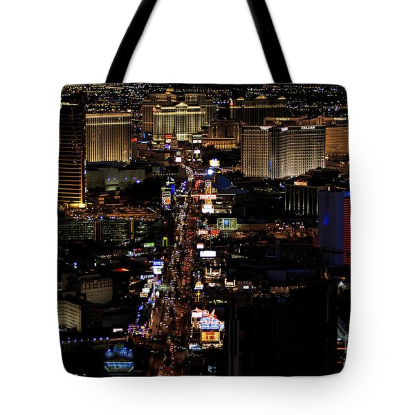 Vegas Night Lights Tote Bag