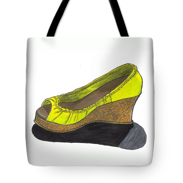 Vegas Shoes Tote Bag by Jean Haynes