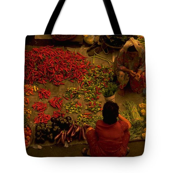 Vegetable Market In Malaysia Tote Bag
