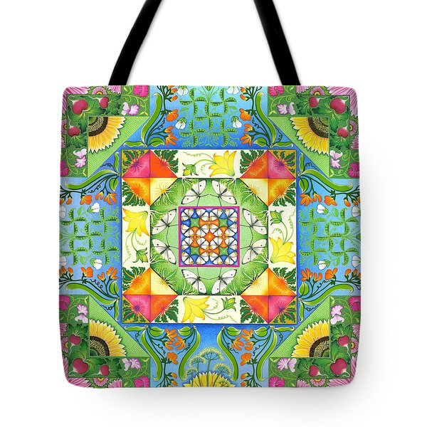 Vegetable Patchwork Tote Bag by Isobel  Brook Haslam