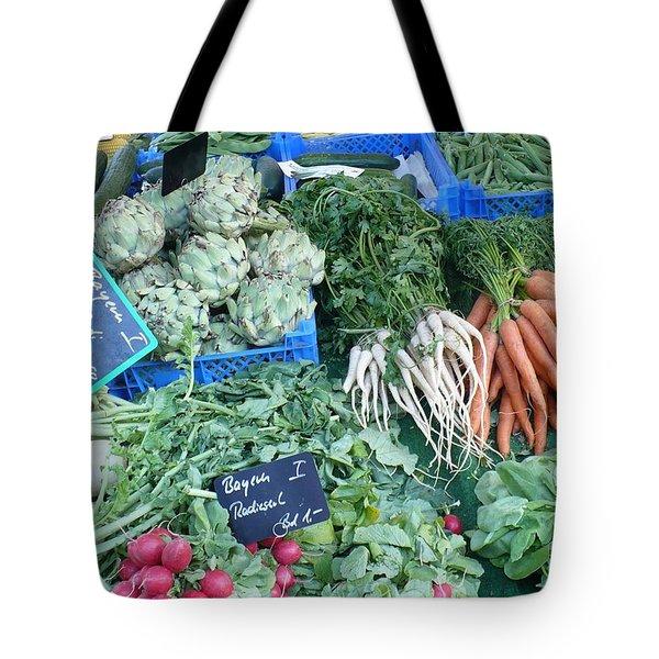 Vegetables At German Market Tote Bag by Carol Groenen