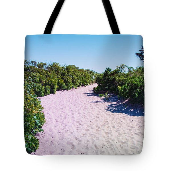 Vegetation And Sand Tote Bag