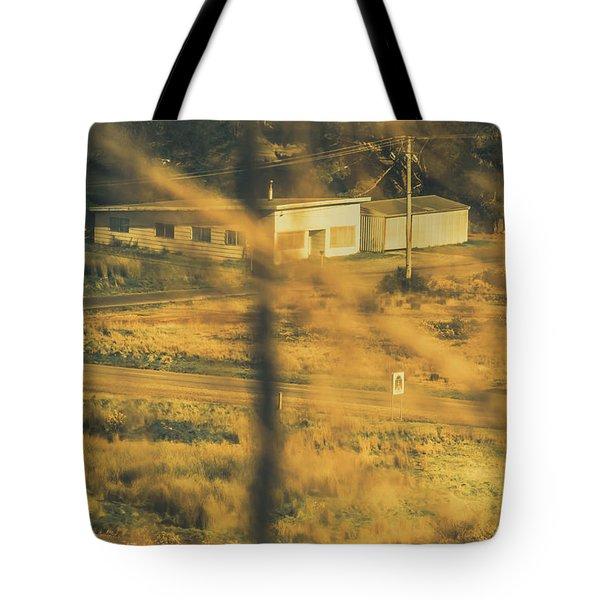 Vegitation View Of Rural Farm Homestead  Tote Bag