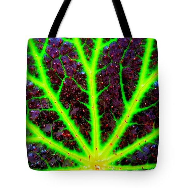 Veins On A Leaf Tote Bag