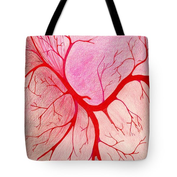 Veins Within Tote Bag