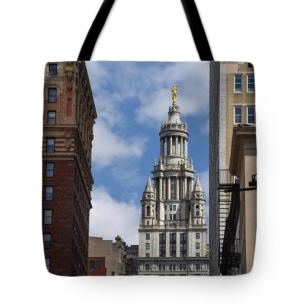 Tote Bag featuring the photograph Veiw Of City Hall by Judy Wolinsky