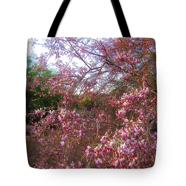 Vekol Wash Desert Ironwood In Bloom Tote Bag