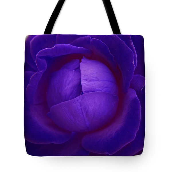 Velvet Blue Lettuce Rose Tote Bag