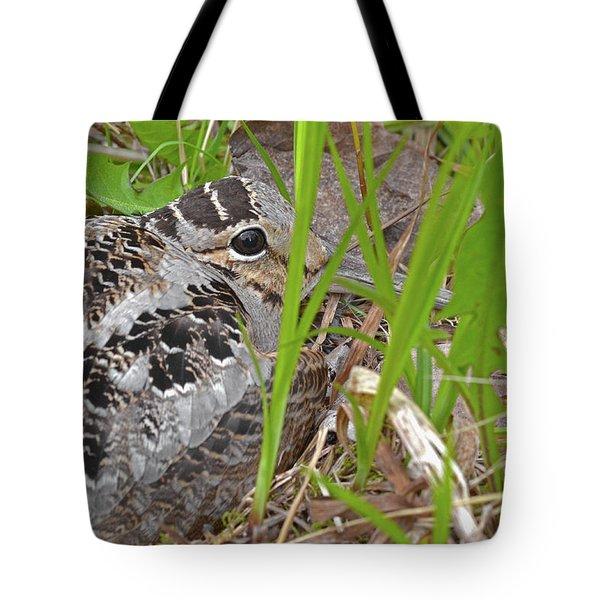 Velvet Eyes, Woodcock Eyes Tote Bag