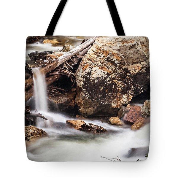 Velvet Falls - Rocky Mountain Stream Tote Bag