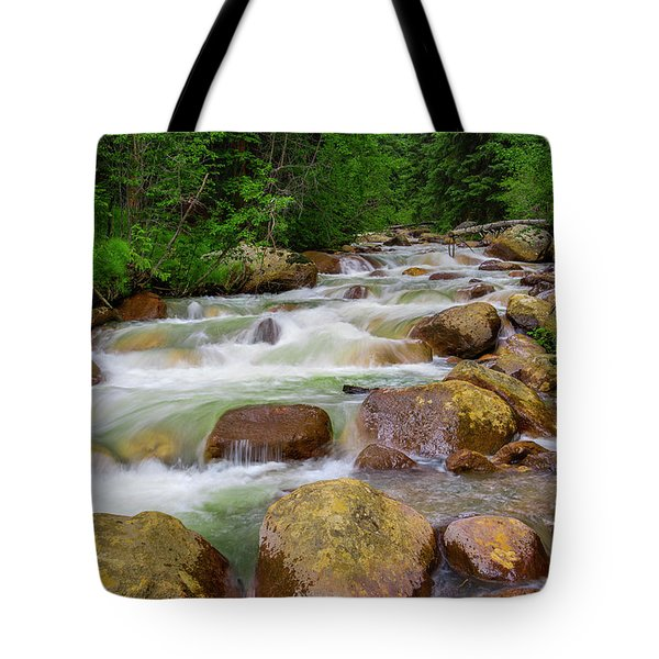 Tote Bag featuring the photograph Velvet Green Forest by Tim Reaves