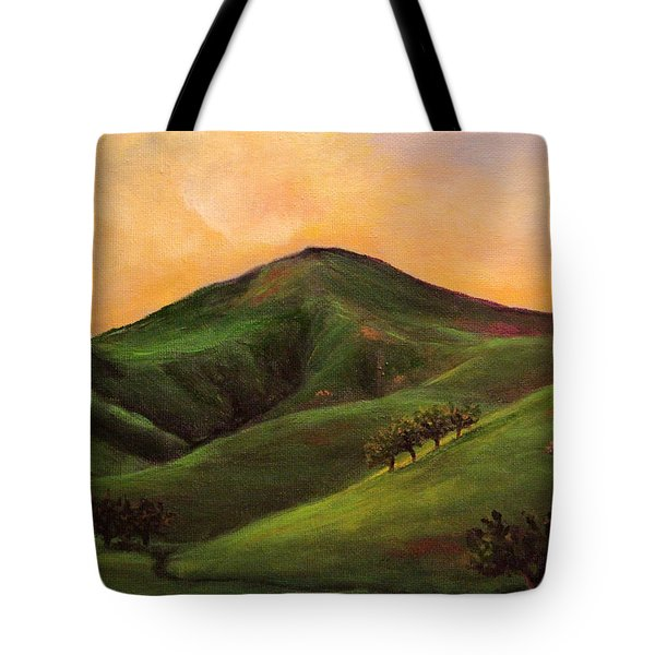 Velvet Hills And Orange Sherbet Skies Tote Bag