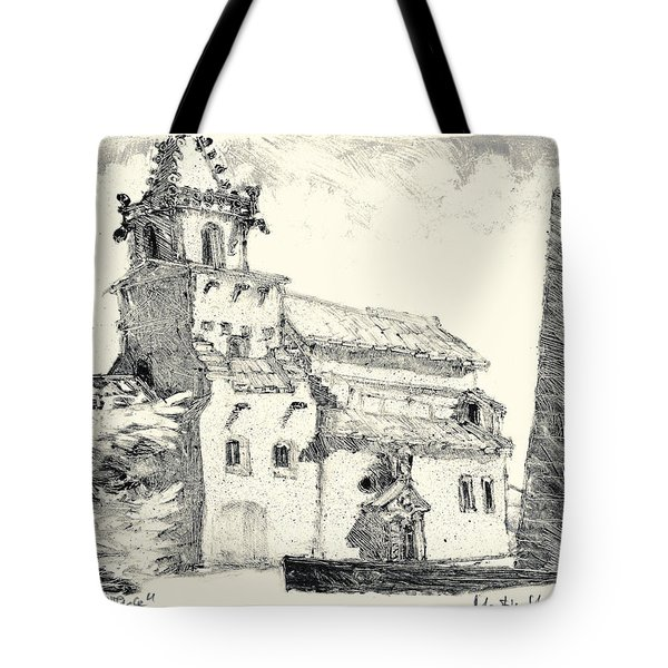 Tote Bag featuring the painting Venasque Provence by Martin Stankewitz