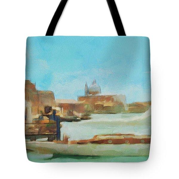 Venetian Canal Tote Bag by Sergey Lukashin