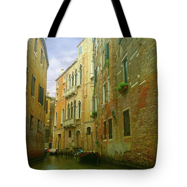 Tote Bag featuring the photograph Venetian Canyon by Anne Kotan