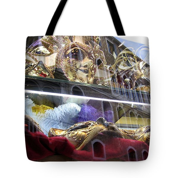 Venetian Carnival Reflections Tote Bag