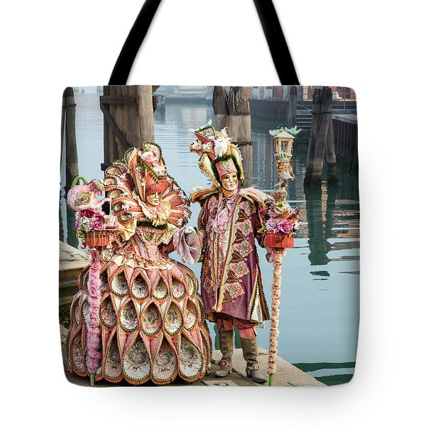 Venetian Couple Along The Canal Tote Bag