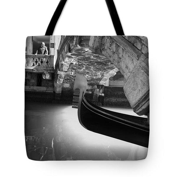 Venetian Daily Scene Tote Bag
