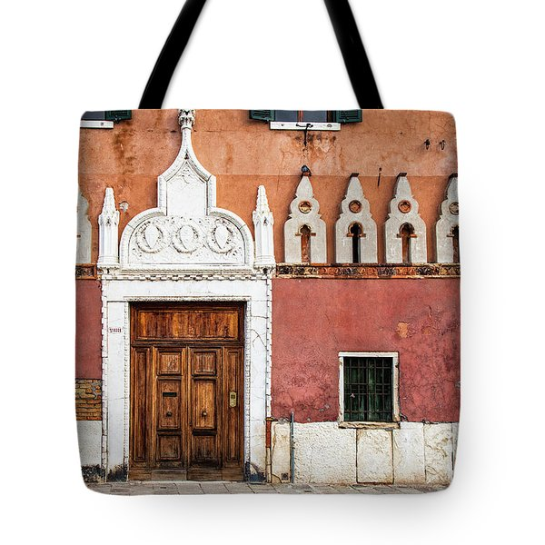 Tote Bag featuring the photograph Venetian Entrance by Andrew Soundarajan