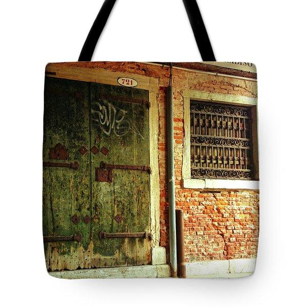 Tote Bag featuring the photograph Venetian Graffiti by Anne Kotan