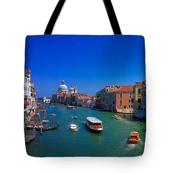 Tote Bag featuring the photograph Venetian Highway by Anne Kotan