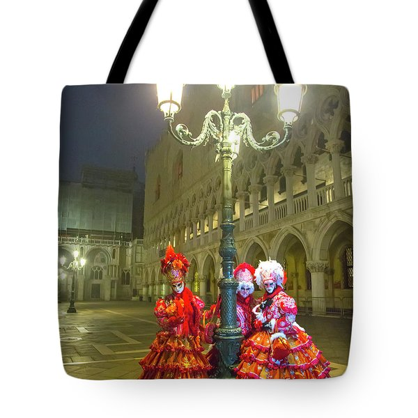 Venetian Ladies In San Marcos Square Tote Bag