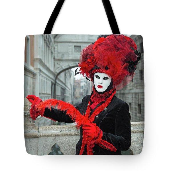Venetian Lady At The Bridge Of Sighs Tote Bag