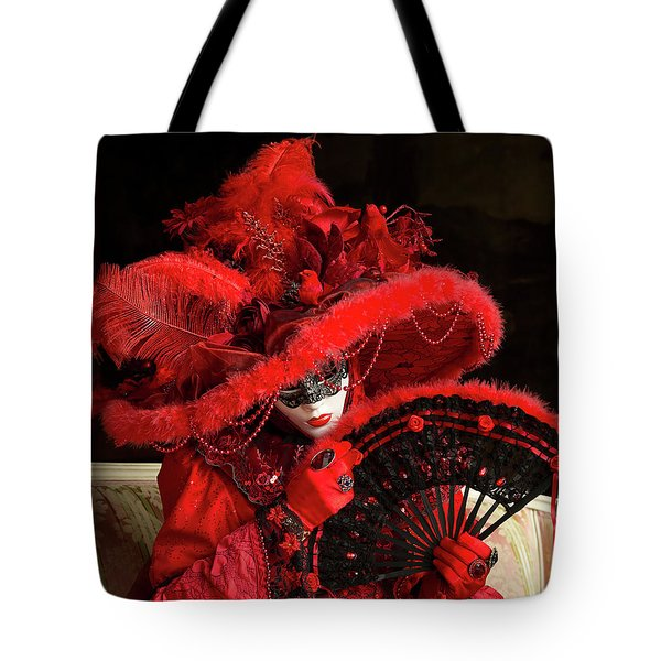 Venetian Lady In Red I  Tote Bag