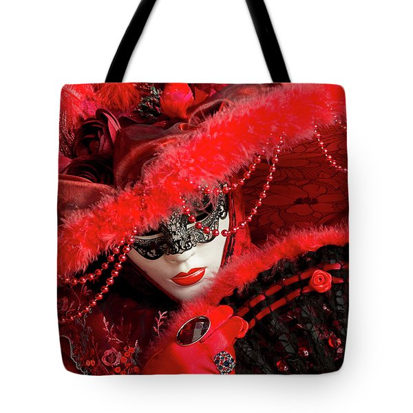 Venetian Lady In Red II  Tote Bag