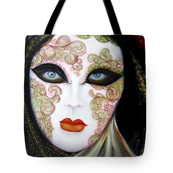 Venetian Mask In Black 2015 Tote Bag