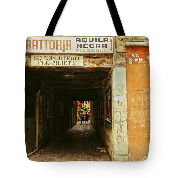 Tote Bag featuring the photograph Venetian Passage by Anne Kotan