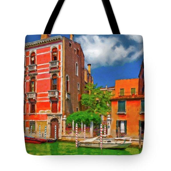 Tote Bag featuring the photograph Venetian Patio by Juan Carlos Ferro Duque