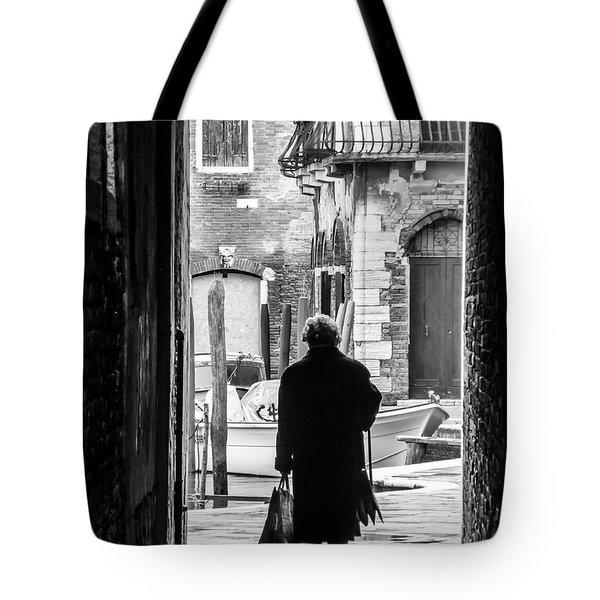 Venetian Silhoutte Lady Tote Bag