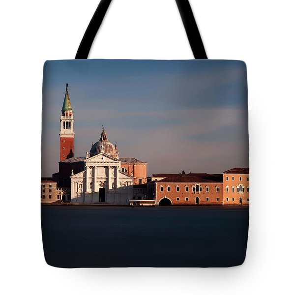 Tote Bag featuring the photograph Venetian View At Dusk by Andrew Soundarajan