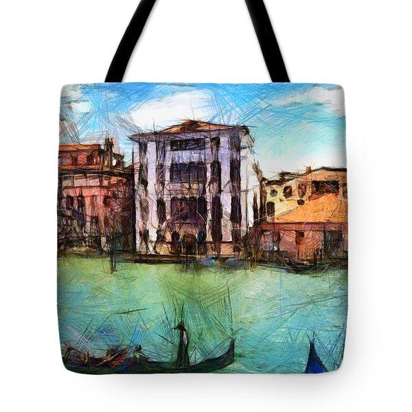 Venezia Con Gli Occhi Di Sergio Tote Bag by Sir Josef - Social Critic -  Maha Art