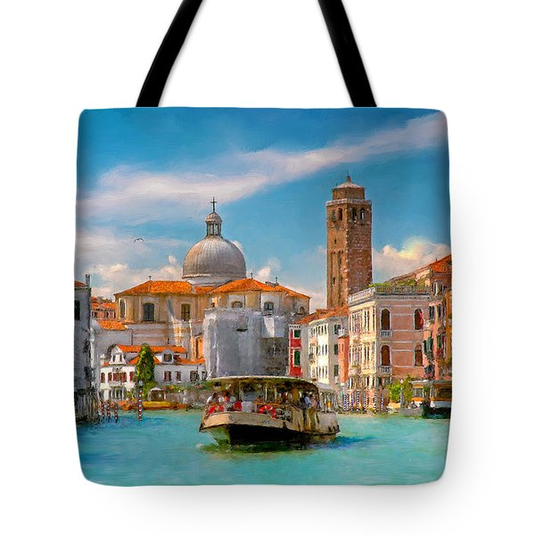 Venezia. Fermata San Marcuola Tote Bag
