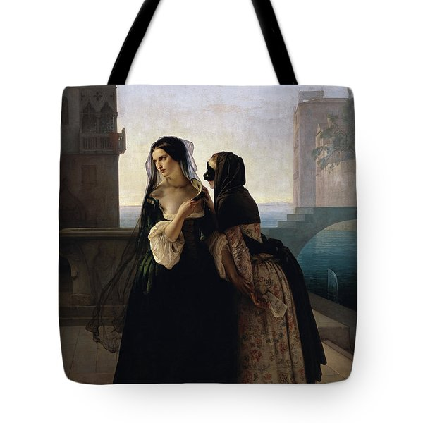 Tote Bag featuring the painting Vengeance Is Sworn by Francesco Hayez