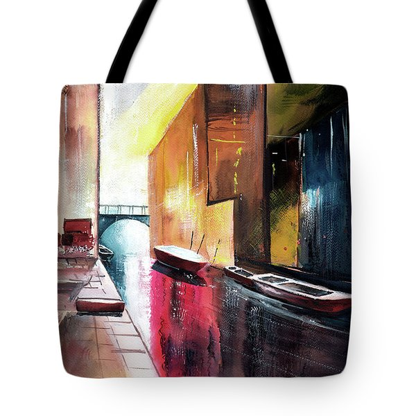 Tote Bag featuring the painting Venice 1 by Anil Nene
