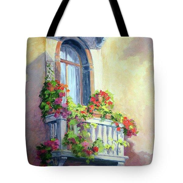 Venice Balcony Tote Bag