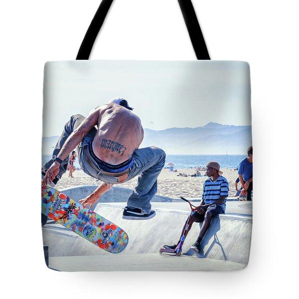 Venice Beach Skater Tote Bag