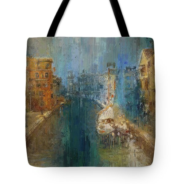 Venice Blue And Yellow Tote Bag