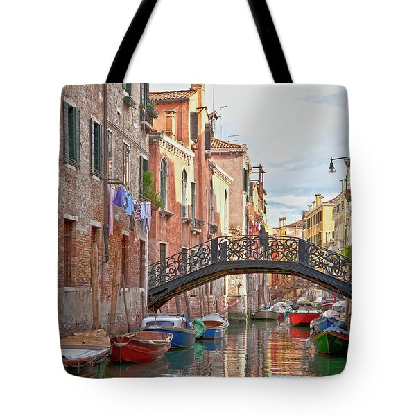 Venice Bridge Crossing 5 Tote Bag by Heiko Koehrer-Wagner