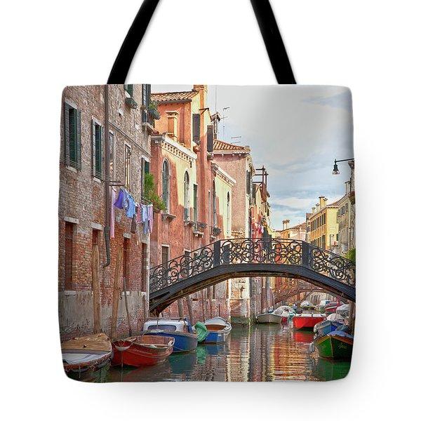 Venice Bridge Crossing 5 Tote Bag by Heiko Koehrer-Wagner