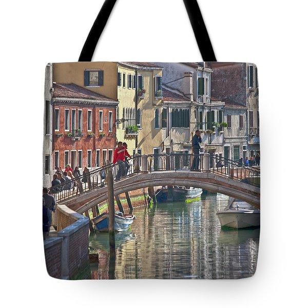 Venice Bridge Crossing 6 Tote Bag by Heiko Koehrer-Wagner