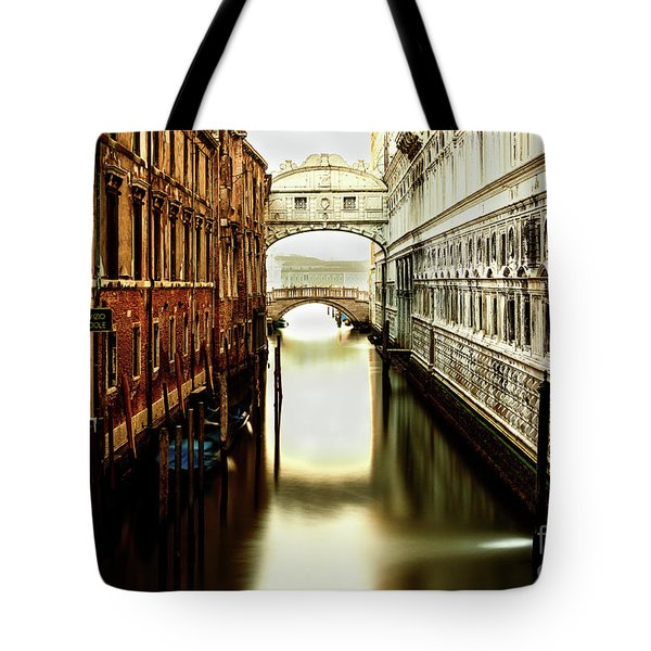 Venice Bridge Of Sighs Tote Bag