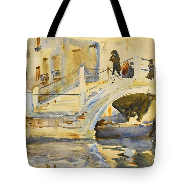 Venice. Bridge With Figures  Tote Bag
