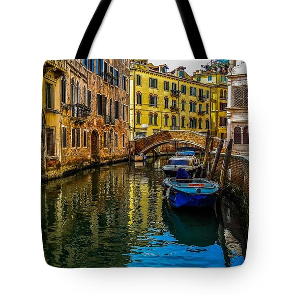 Venice Canal In Italy Tote Bag