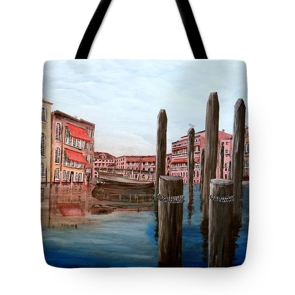 Venice Canal Tote Bag by Irving Starr