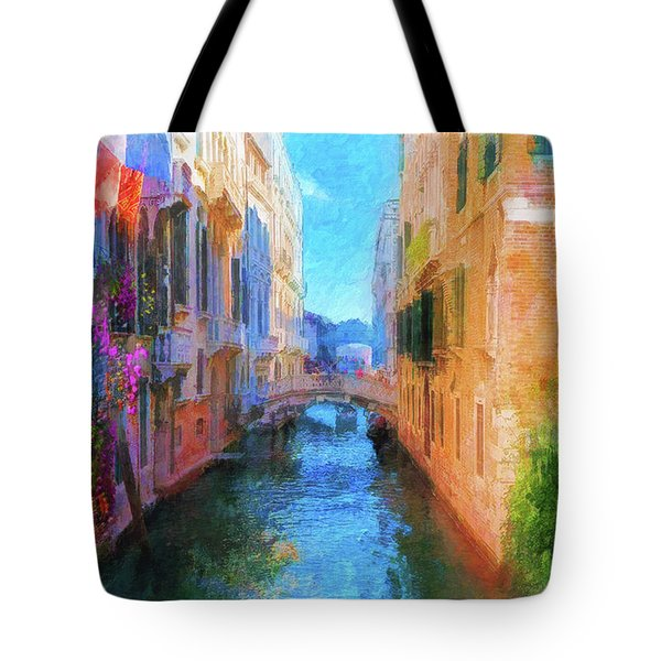 Venice Canal Painting Tote Bag
