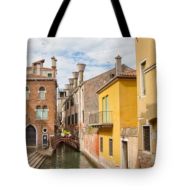 Venice Canal Tote Bag by Sharon Jones